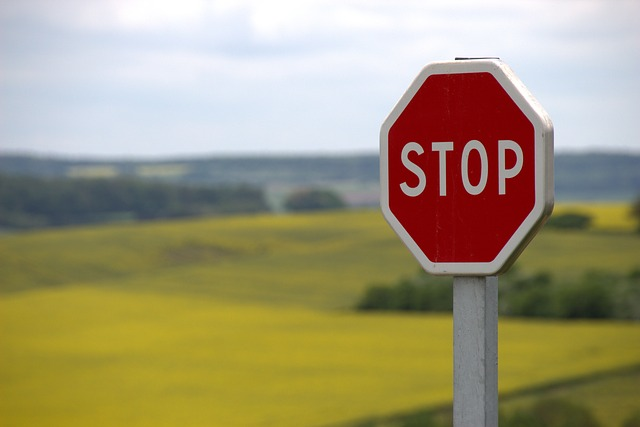 Stop sign allowing thought before clicking made for kids on app store