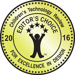 Children's Technology Review Editor's Choice For Excellence In Design 2016 (Grade 86\%)